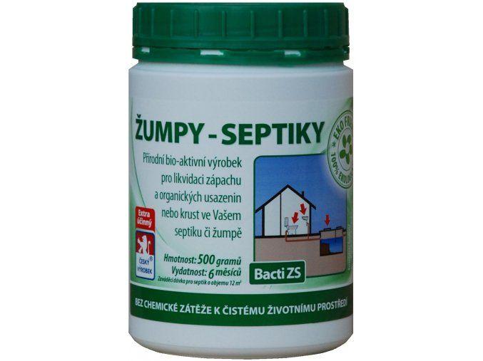 Bacti ZS - Bakterie do žump a septiků - 500g Baktoma